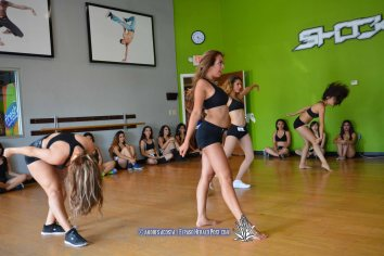 day Two of the El Paso Coyotes Dance team tryouts being held at LAT Studios.
