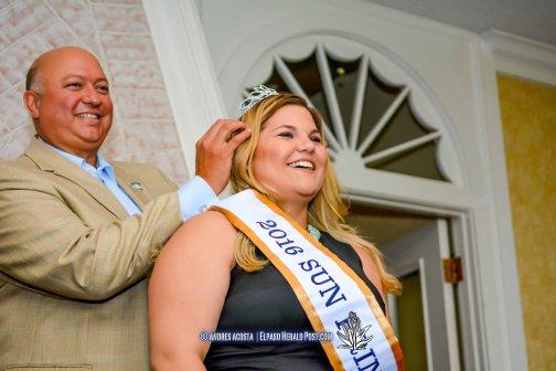 2016 Sun Bowl President Steve Beltran and Sun Princess Hannah Legge at the 2016 Sun Court Coronation at the El Paso Country Club