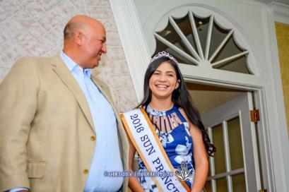 2016 Sun Bowl President Steve Beltran and Sun Princess Kayla Quintero at the 2016 Sun Court Coronation at the El Paso Country Club