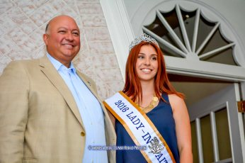 2016 Sun Bowl President Steve Beltran and Lady In Waiting Clarissa Gardea at the 2016 Sun Court Coronation at the El Paso Country Club