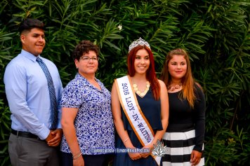 Lady In Waiting Clarissa Gardea and Family pose for pictures at the 2016 Sun Court Coronation at the El Paso Country Club