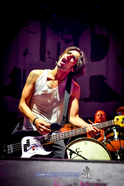 """All American Rejects "" performing at the Don Haskins Center during ""Blink 182 California Tour"""