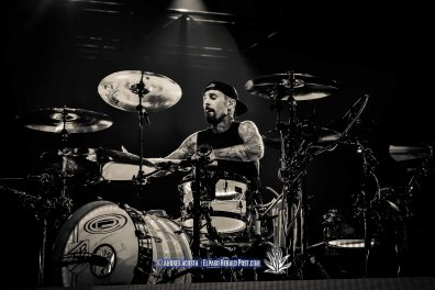 """Blink 182 performing at the Don Haskins Center during its """"Blink 182 California Tour"""""""