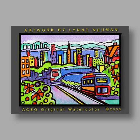 Signed ACEO Print *San Francisco California #281* by Lynne Neuman