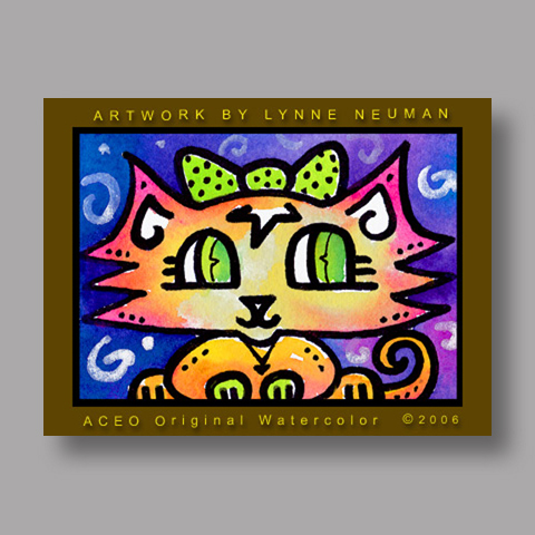 Signed ACEO Print *Kitten Cat #311* by Lynne Neuman