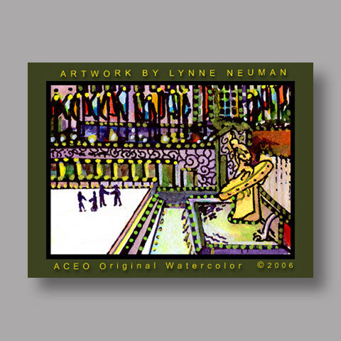 Signed ACEO *Rockefeller Center NY #656* by Lynne Neuman