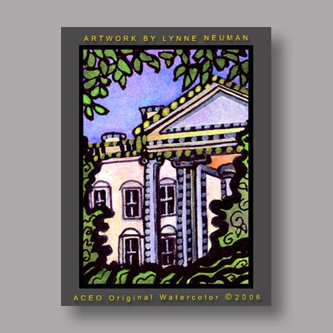 Signed ACEO *White House Washington #716* by Lynne Neuman