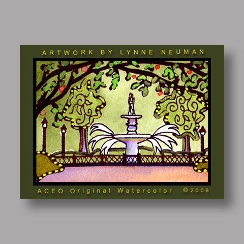 Signed ACEO *Savannah Georgia #773* by Lynne Neuman