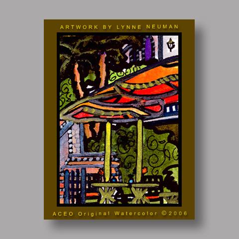 Signed ACEO Print *Riverwalk San Antonio TX #787* by Lynne Neuman