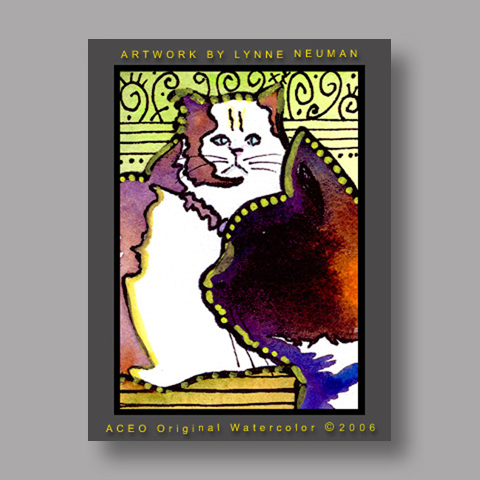 Signed ACEO Print *Cats #808* by Lynne Neuman