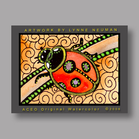 Signed ACEO Print *Ladybug #888* by Lynne Neuman
