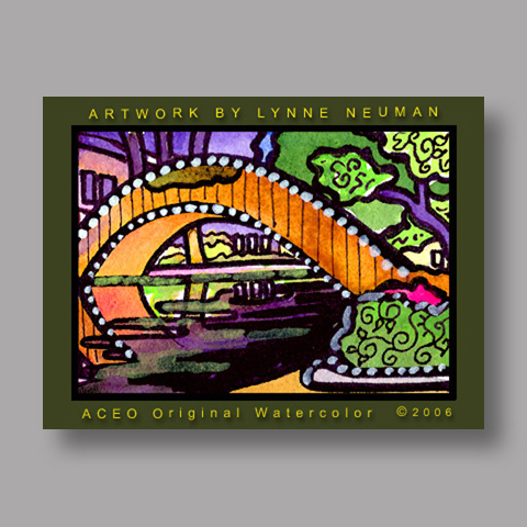 Signed ACEO Print *Riverwalk San Antonio TX #1112* by Lynne Neuman