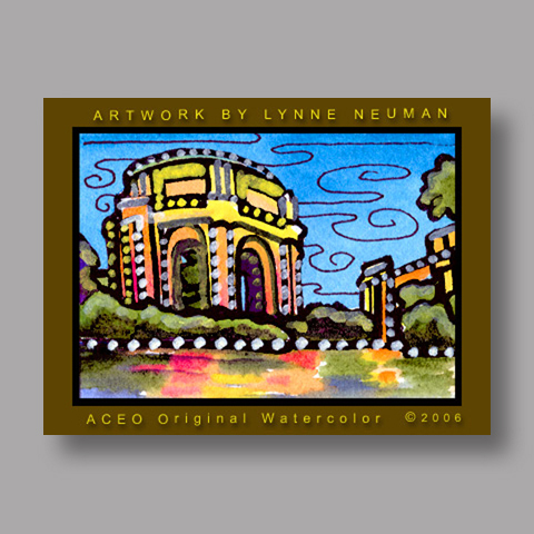 Signed ACEO *San Francisco #1130* by Lynne Neuman