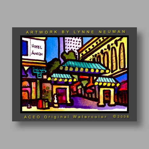Signed ACEO Print *Chinatown San Francisco #1133* by Lynne Neuman