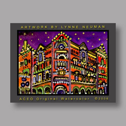 Signed ACEO Print *Driskill Hotel Austin Texas #1184* by Lynne Neuman