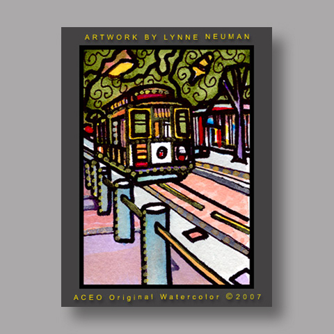 Signed ACEO Print *Street Car #1313* by Lynne Neuman