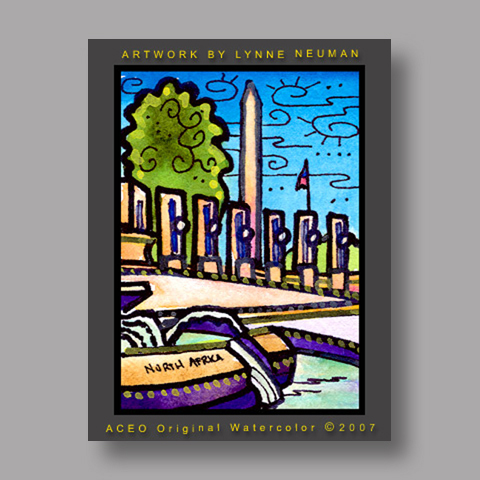 Signed ACEO Print *Washington DC WW2 #1348* by Lynne Neuman