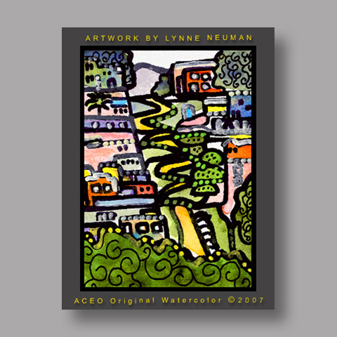 Signed ACEO *Lombard San Francisco #1378* by Lynne Neuman