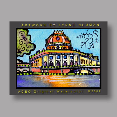 Signed ACEO Print *Berlin Germany #1633* by Lynne Neuman