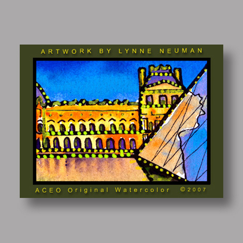 Signed ACEO *Louvre Paris France #1668* by Lynne Neuman