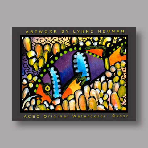 Signed ACEO Print *Clown Fish #1851* by Lynne Neuman