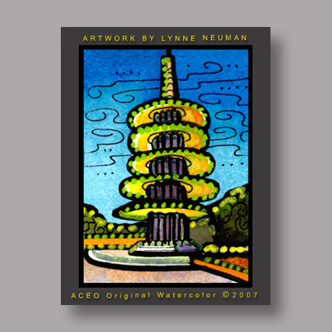 Signed ACEO Print *Japantown San Francisco #1869* by Lynne Neuman