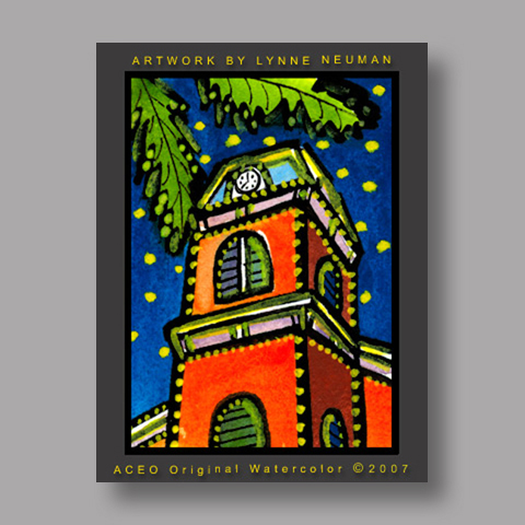 Signed ACEO *Key West Tower #1915* by Lynne Neuman