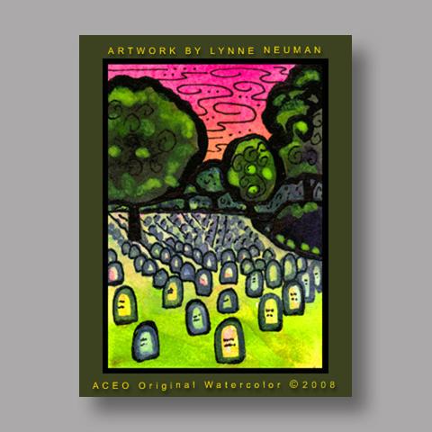 Signed ACEO Print *Arlington Cemetary Virginia #1992* by Lynne Neuman