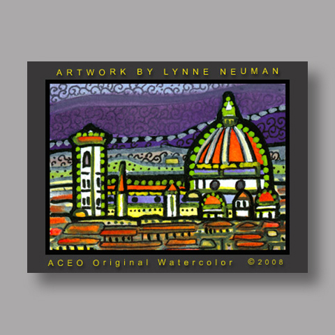 Signed ACEO Print *Domo Florence Italy #2031* by Lynne Neuman