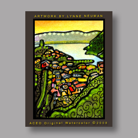 Signed ACEO Print *Cinque Terre Italy #2067* by Lynne Neuman