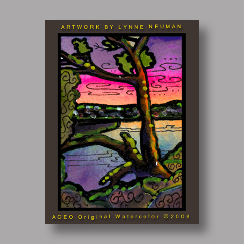 Signed ACEO *Austin Texas #2175* by Lynne Neuman