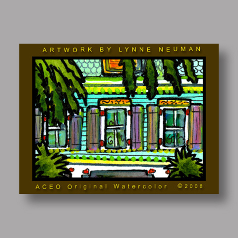 Signed ACEO Print *Key West #2176* by Lynne Neuman