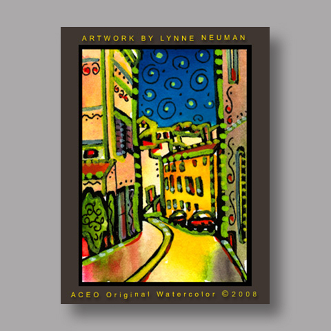 Signed ACEO *Streets of France #2418* by Lynne Neuman