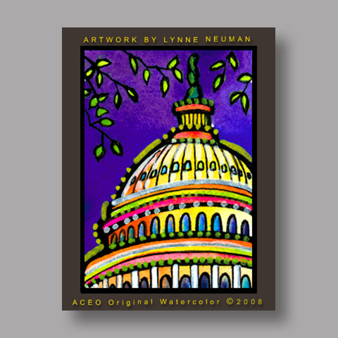Signed ACEO *US Capitol Washington #2588* by Lynne Neuman