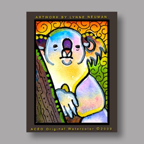 Signed ACEO Print *Koala Australian #2606* by Lynne Neuman