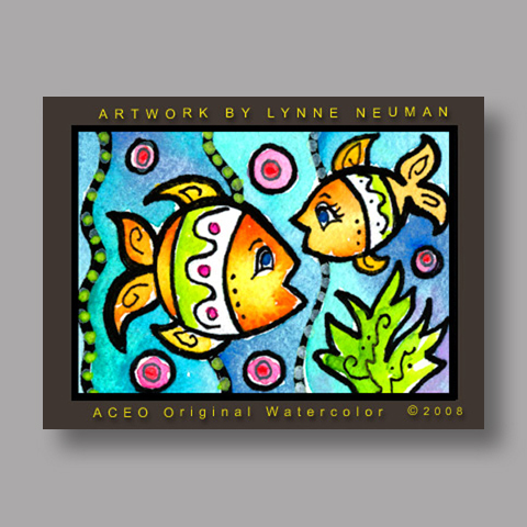 Signed ACEO *Whimsical Fish #2628* by Lynne Neuman