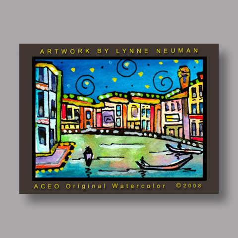 Signed ACEO Print *Venice Italy #2641* by Lynne Neuman