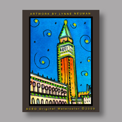 Signed ACEO Print *Venice Italy #2705* by Lynne Neuman