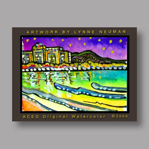 Signed ACEO *Hawaiian Beach #2722* by Lynne Neuman