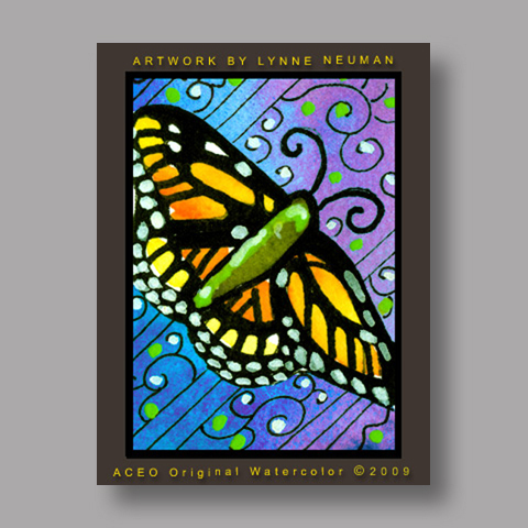 Signed ACEO Print *Monarch Butterfly #2903* by Lynne Neuman