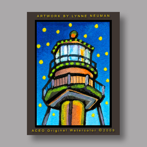 Signed ACEO Print *Lighthouse Sanibel Island Florida #2978* by Lynne Neuman