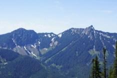 McClellan Butte (right) as seen from Bandera