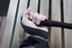 I normally use this grip while power hiking for more control.