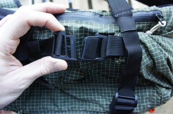 If the bag is rolled down an odd number of times, the Fidlocks will not align. So depending on your load size, whether or not you have your puffy stored on top for example, the bag may or may not secure on your first attempt to engage the Fidlocks.