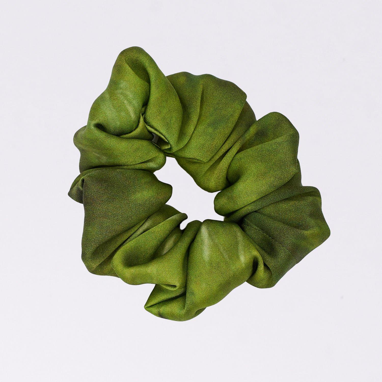 Acephala Silk Scrunchie Green N