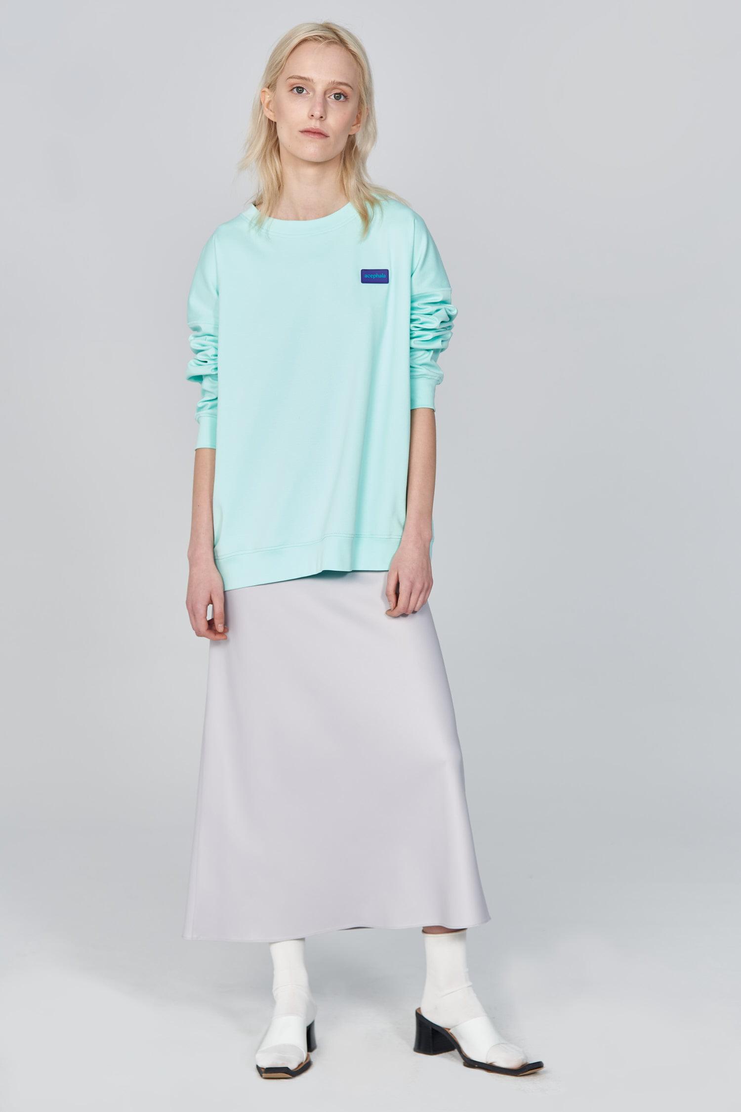 Acephala Ss21 Unisex Mint Sweatshirt Front Relaxed