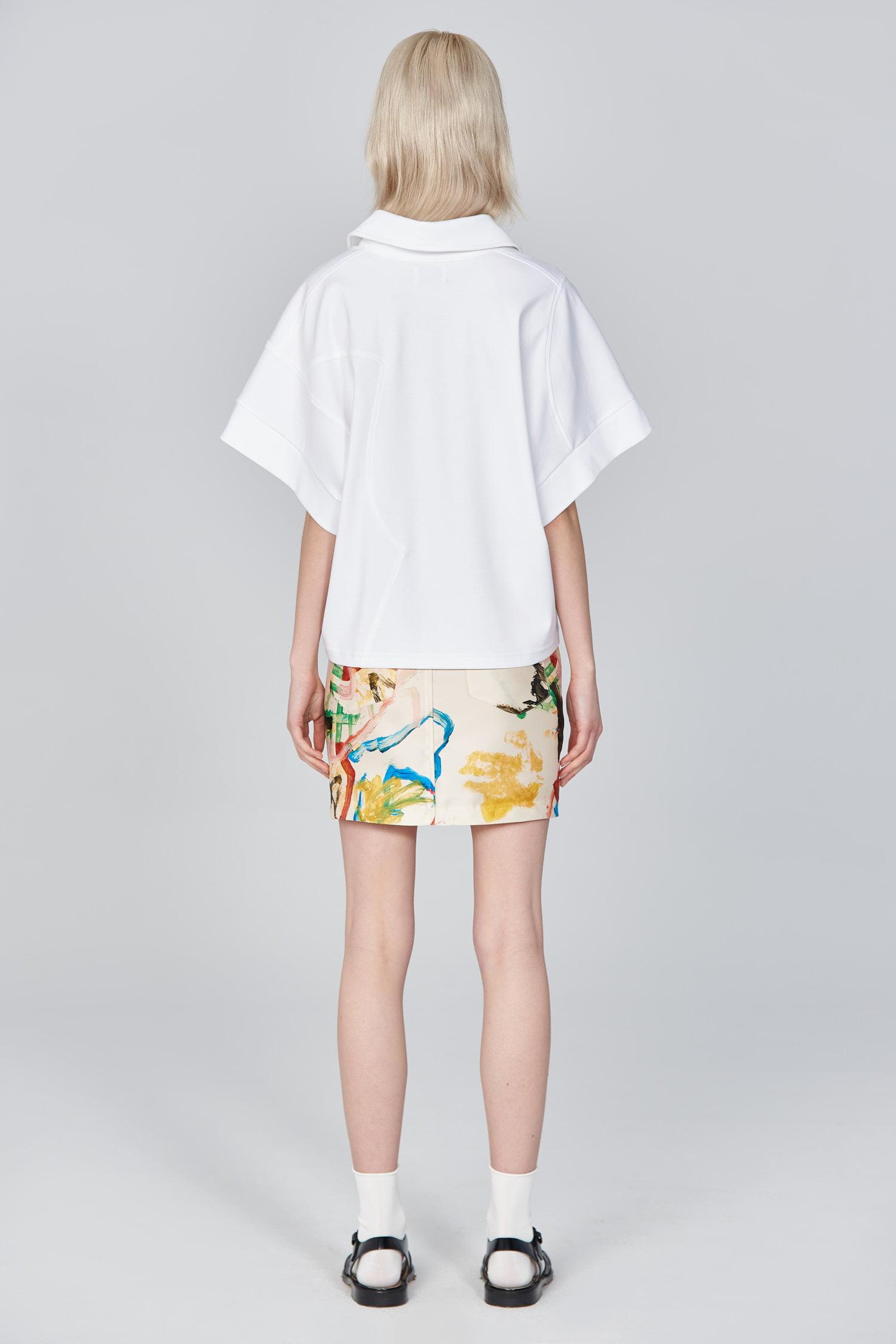 Acephala Ss21 White Polo Shirt Back