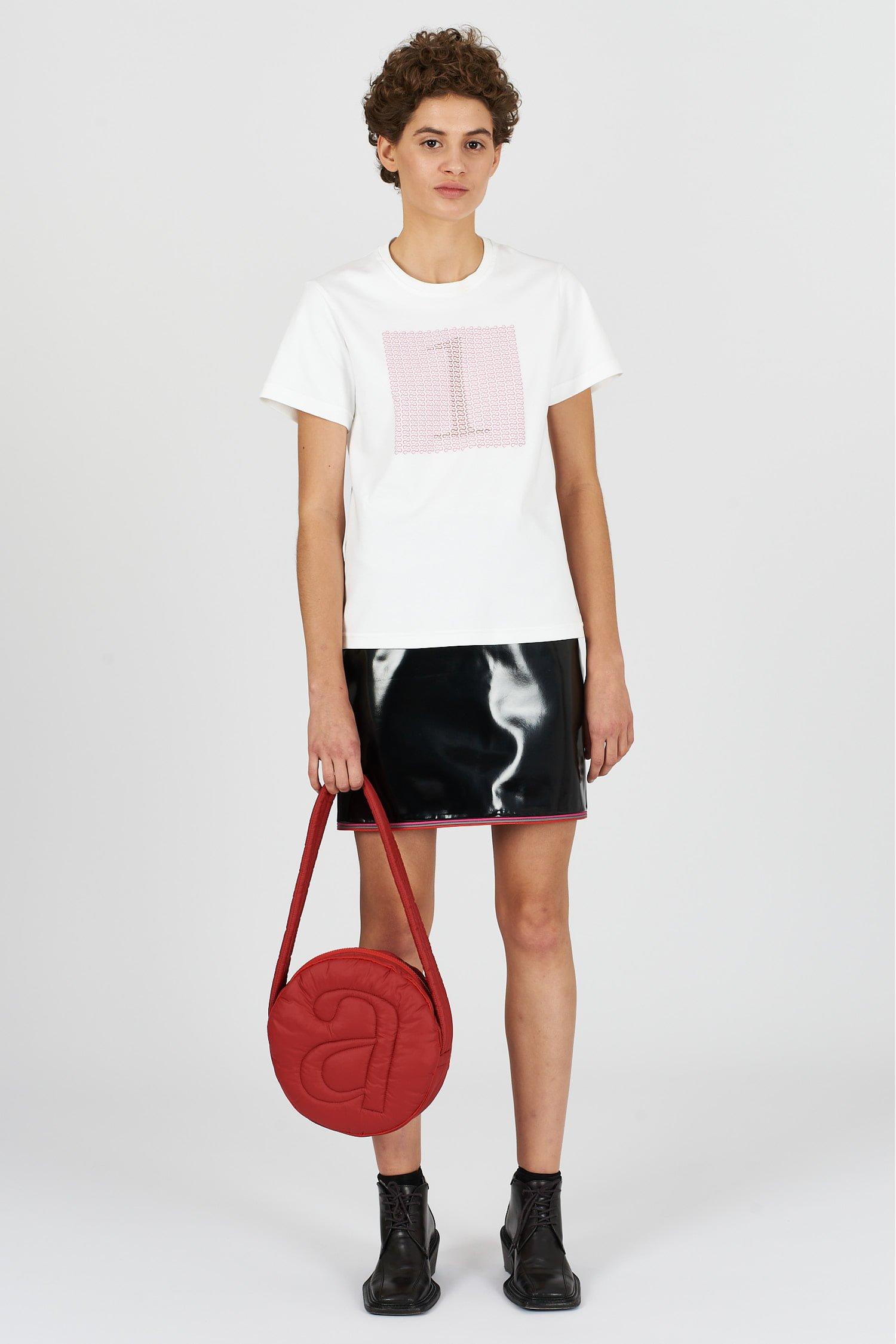 Acephala Fw2021 22 Red Pink Print T Shirt 02