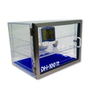 Gabinete desecadorposición horizontal Modelo DH-1002 con termohigrómetro digital