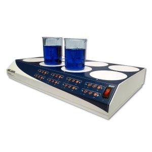 Agitador magnético Multiposición AG-5008 de 8 puesto